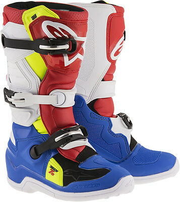 ALPINESTARS Motocross Offroad 2017 TECH 7S Boots (Blue/White/Red/Ylw) US 3 Youth