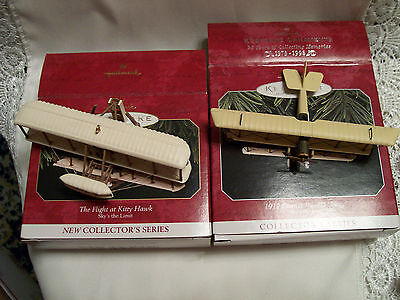 1997-98 Hallmark Sky's the Limit #1 & 2  Kitty Hawk & 1917 Curtiss JN-42 Jenny