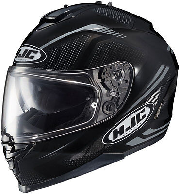 HJC IS-17 Spark Full-Face Motorcycle Helmet (Black) M (Medium)