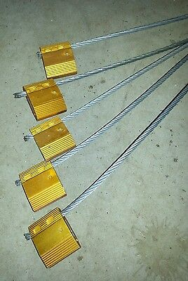 5x Wire Rope Security Seal Cable Lockout Tag Shipping Storage Container Site Hut