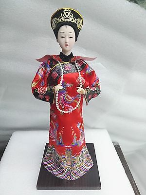East China Qing Dynasty Empress doll statue