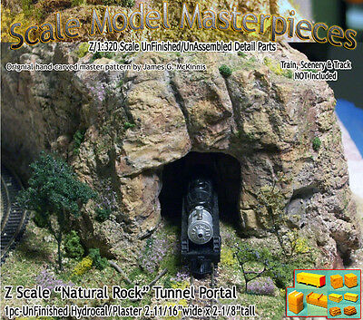 "Z Scale ""Natural Rock"" Tunnel Portal Scale Model Masterpieces 1;220*NEW N3PR3"