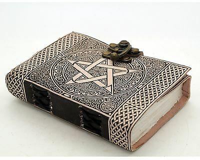 Pentagram/Pentacle Handmade Leather Bound Journal Book Of Shadows Wicca Pagan