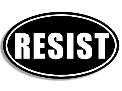 3x5 inch Oval RESIST Sticker  - dnc bumper not resist stop trump anti president