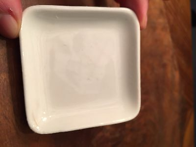 "ANTIQUE BUTTER PAT 3"" square ROYAL SEMI PORCELAIN JOHN MADDOCK & SONS ENGLAND"