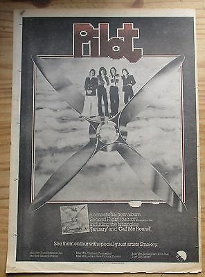 "Pilot Poster Size Tour Advert Record Mirror 1975 (16 x 12"")"
