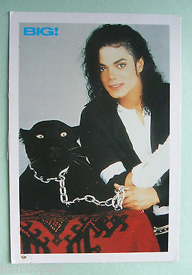 Postcard - MICHAEL JACKSON with BLACK PANTHER - BIG! Magazine (1992) - (SAP1-3)