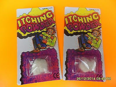 2 Itching Powder Itchy Pranks Gags Tricks Novelty Office Toys Funny School Vend
