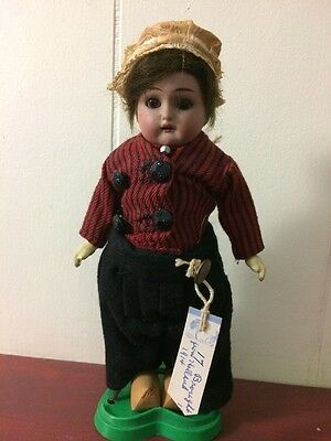 "Antique Simon & Halving K*R Dutch Girl Rare Size Bisque Doll 8"" 1914 Original"