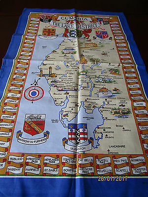 All Cotton Tea Towel, Made In Britian - Cumbria The Lake District