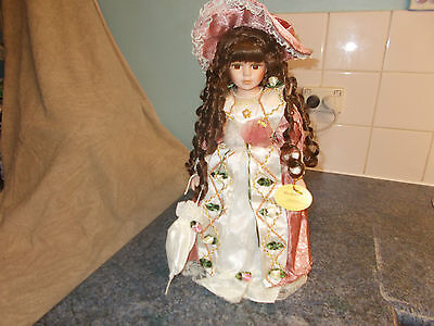 Homeart 16Inch Lovely Gemma Collector's Porcelain Doll.
