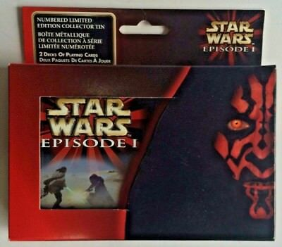 STAR WARS Episode I - Numbered Limited Edition Collectors Tin (Playing Cards)
