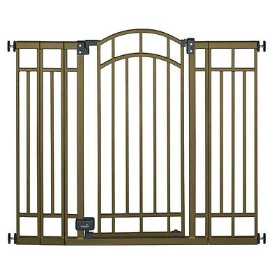 "Extra Tall 36"" Infant Baby Child Metal Walk Thru Safety Gate Auto Close & Lock"