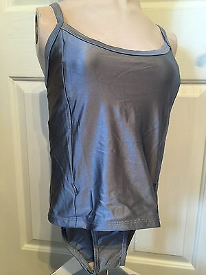 Nursing Tankini Swimsuit Silver NWT Breastfeeding S, M, L,  XL, 2XL 2 Piece