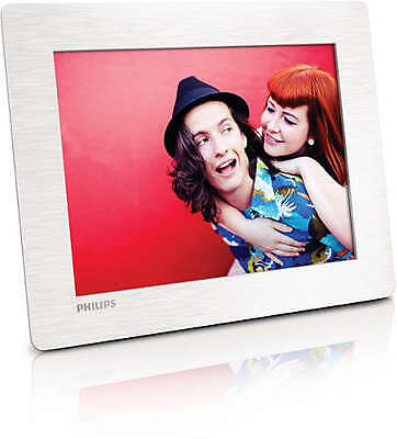 New Philips White Digital Photo Frame 8'' 20cm