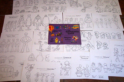 CATTANOOGA CATS ANIMATORS MODEL SHEETS HANNA BARBERA Artist Reference Guide