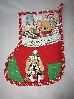 New Old Stock  Vintage 1980's Critter Sitters Fun Christmas Pot Holder Cute Dogs