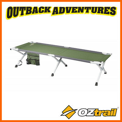 OZtrail ALUMINIUM LARGE STRETCHER - OUTDOOR CAMPING CROSS LEG CAMP BED