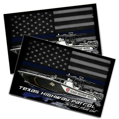 """Texas Highway Patrol Tactical Marine Unit 11x17"""" Two Wall Posters"""