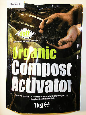 Doff - ORGANIC COMPOST ACTIVATOR - 1kg - accelerates compost growth *same day UK