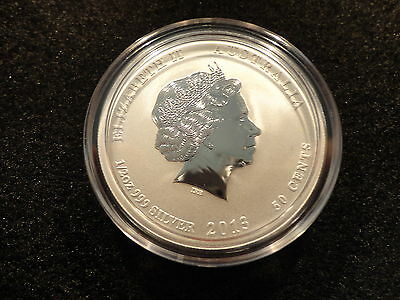 2013 AUSTRALIAN 50 CENT YEAR OF THE SNAKE- 1/2 oz. .999 SILVER-FROSTY-OFFERS