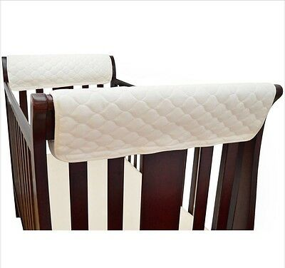 New TL Care Natural Organic Cotton Side Crib Rail Covers Teething