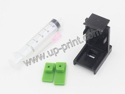 Ink cartridge clamp pumping refill tool for HP ink cartridge 21 60 61 62 74 901