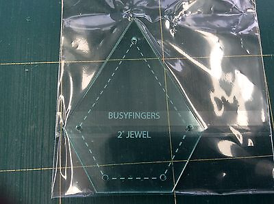 """Sue Daley English Paper Piecing. 2"""" Jewel template or papers or both."""