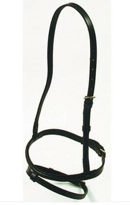 Horse Hanoverian Nose Band Black Or Brown Leather Full/Cob/Pony    ***NEW