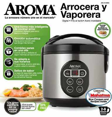 Kitchen Cup Perfect Rice Cooker 8 Aroma Steamer Digital (Cooked) Food Stainless