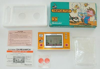 NINTENDO GAME & WATCH - TROPICAL FISH - New Wide Screen 1985 - BOXED -