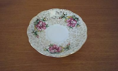 Collectable Queen Anne  Bone China England Flower Gold Pattern 14 cm Saucer