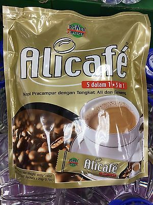 Alicafe 5 in 1 Premix Coffee Tongkat Ali and Ginseng 20 Satchets FREE Shipping