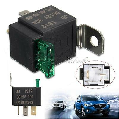 Fused On/Off Car Motor Automotive Fused Relay DC 12V 30A 4 Pin 4P SPST Metal