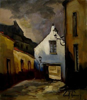 E. Lammers. (1914-1990). Listed. Top. Impressionist. Signiert.