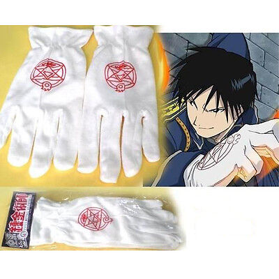 Gloves Fullmetal Alchemist Colonel Edward Elric Roy Mustang Gloves For Cosplay