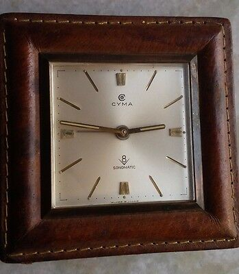 Cyma Sonomatic Table clock with 8 days key and alarm