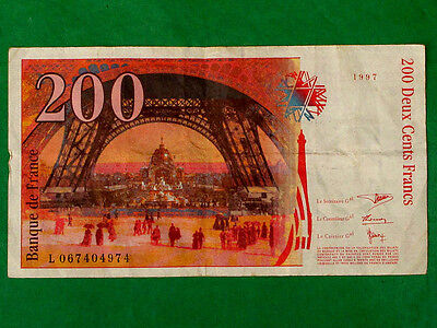 200 Franc French Banknote 1997