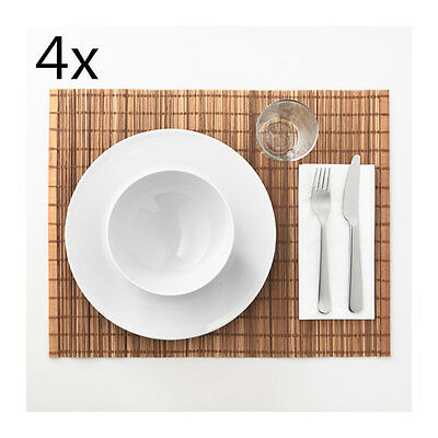 4x IKEA Kitchen Placemats Natural Bamboo Place Mats Dining Table Decoration