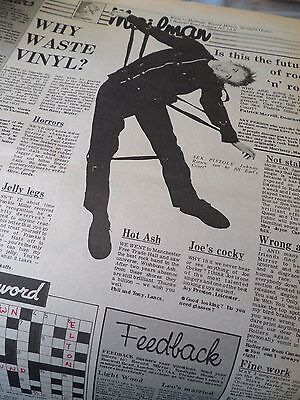 """THE SEX PISTOLS """"LETTERS PAGE """" Steven Morrisey of THE SMITHS chips in 1976"""