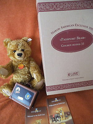 Steiff Teddy Passport Bear 1997 - 665318 - signiert von Tweed Roosevelt (36)