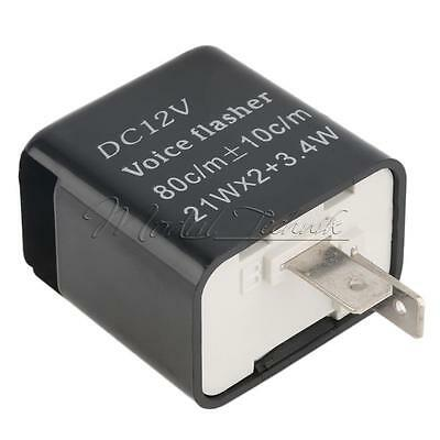 DC 12V 2Pin Speed Adjustable LED Flasher Relay Motorcycle Turn Signal Indicator