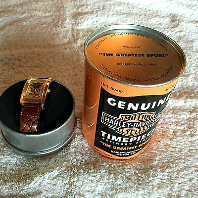 "Harley-Davidson Limited Edition OIL CAN WATCH - - ""GREATEST SPORT"" -- New in box"