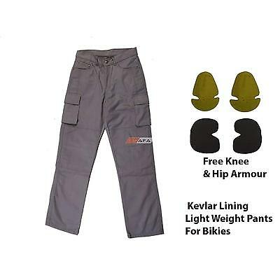 Motorcycle Protective Cotton Pants Reinforced With DuPont™ Kevlar® Fibre Grey