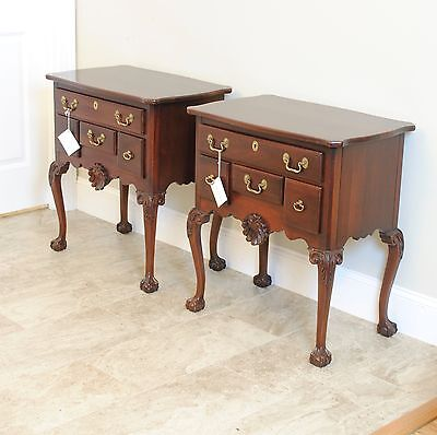 Link Taylor Pair of Mahogany Low Boys / Night Stands / Side Tables.