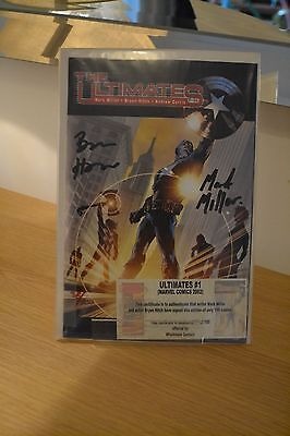 Marvel Ultimates 1 2002 VGC Signed Rare Bryan Hitch & Mark Millar