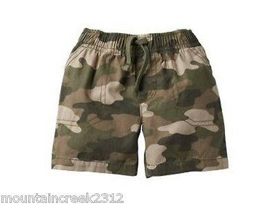 New JUMPING BEANS Boy's Shorts Size 3 6 9 months Camouflage Print Cotton Green