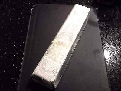 ALUMINUM BAR -INGOT 2 POUNDs 95 % PURE- 2 LBs. NOT STAMPED-CAST- MADE IN USA