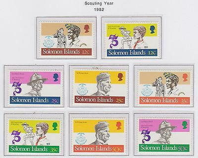 Solomon Islands Scouting Year - set of 8 Stamps 1982 Mint