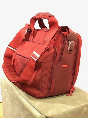 Mandarina Duck Bordeaux Red Carry-On Tote Bag Laptop Bag Luggage  6 Compartments